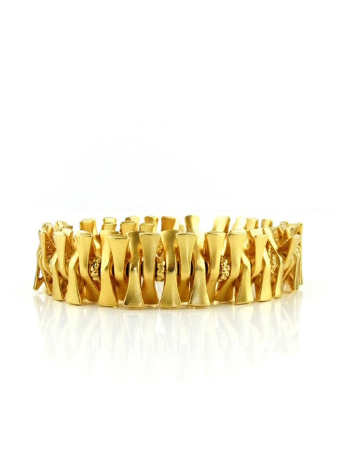 GOLD PLATED BOW TIE BRACELET