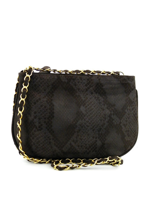 SNAKE EFFECT SMALL SHOULDER BAG