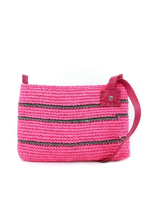 COLORED STRAP CROCHETED CLUTCH