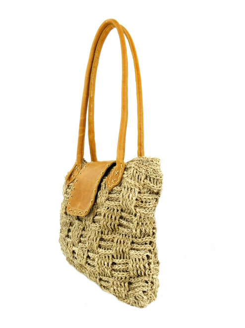 STITCHED FLAP CROCHETED BAG