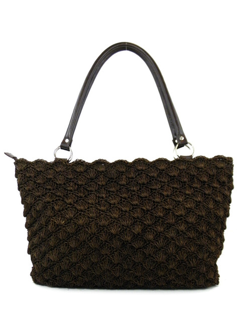 SHELL STITCH CROCHETED TOTE