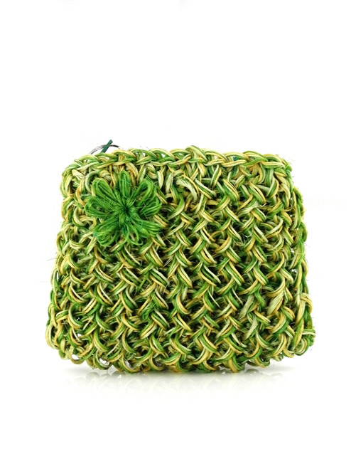GREEN FIQUE SMALL POUCH