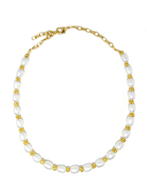 GOLDEN CHARM & PEAR NECKLACE