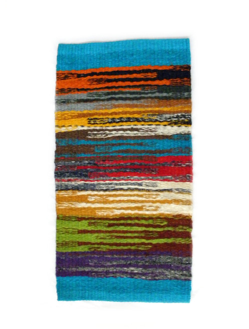 MULTICOLORED NATURAL FIBER FLOOR MAT OR WALL DECOR