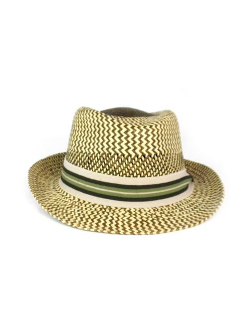 TWO TONE SIGZAG FEDORA
