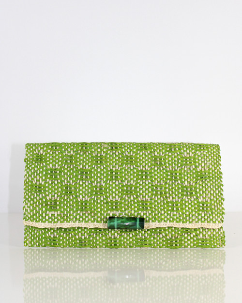 Clutch Envelope With Adornment Green