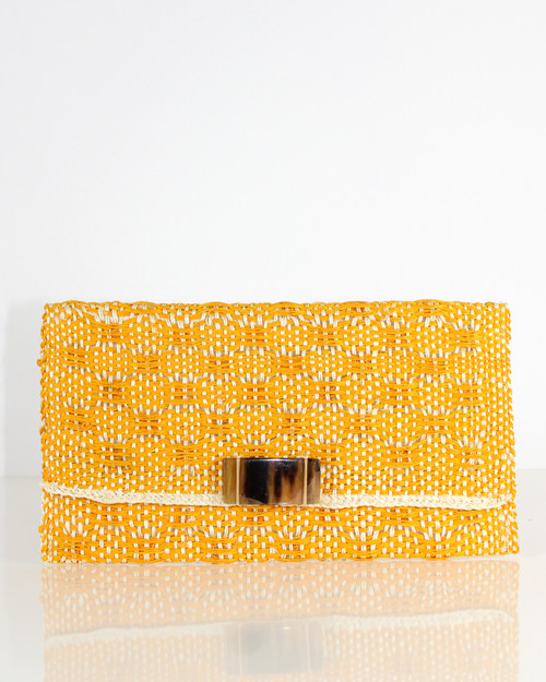 Clutch Envelope With Adornment Yellow