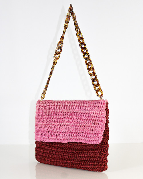 Clutch Shoulder Bag Two Tone Rosemary