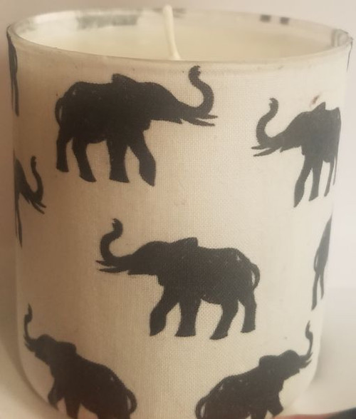 This is Black elephants on a white background with tusks up.