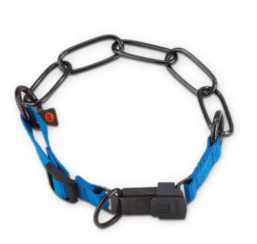 Herm Sprenger Black Stainless Steel and Nylon Fur Saver Collars