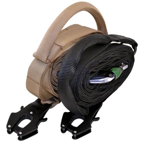 Nylon Adjustable Service Dog Leash with Frog Clip