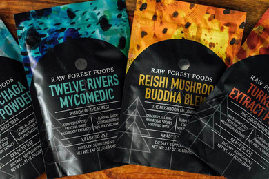 RAW Forest Foods Reishi Buddha Blend — Reishi Spores and Extract Powder — Ready to Use