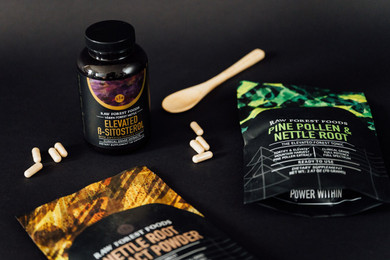 RAW Forest Foods Beta-Sitosterol and Swedish Flower Pollen Capsules — Fortified with Piperine