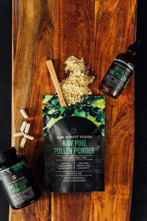 RAW Forest Foods RAW Pine Pollen Capsules — Single Source — Mountain Harvest