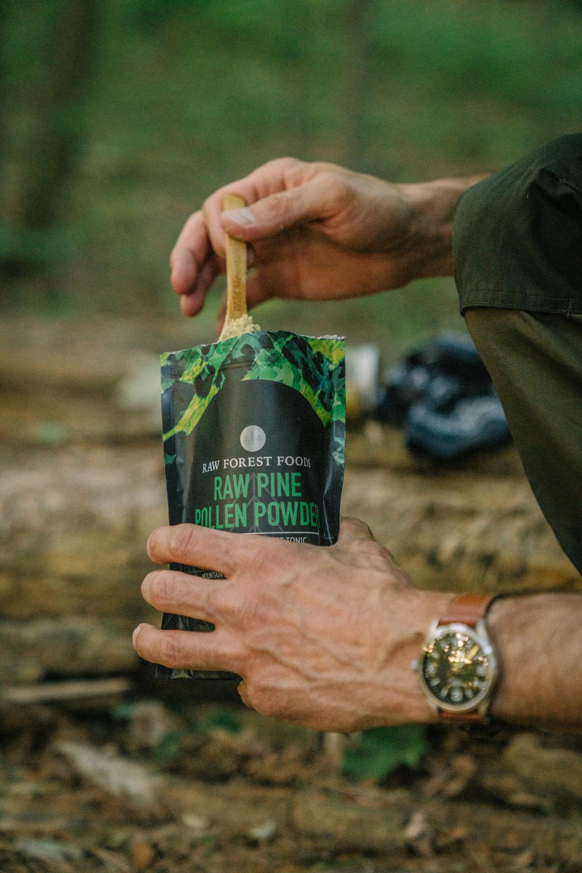 Mountain Harvest RAW Pine Pollen™ Powder—In the Wild