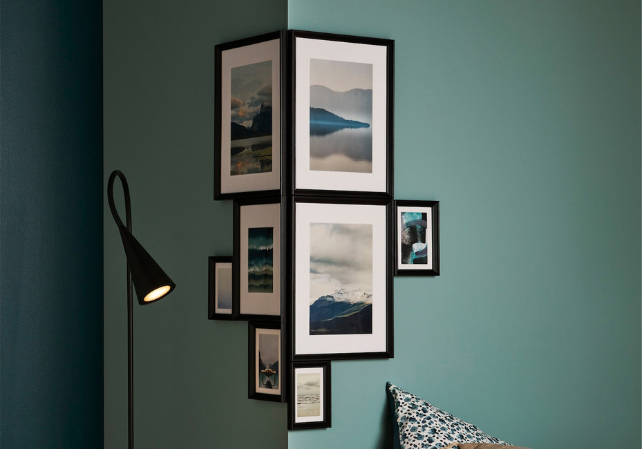 Abstract ways to hang prints at home