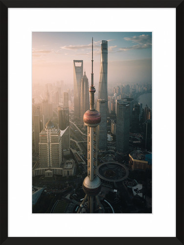 The Oriental Pearl TV Tower in Shanghai, China
