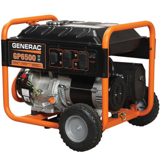 Generac 5946 GP6500 6500 Watt/ 8125 Starting Watts 389cc OHV Portable Gas Powered Generator (CARB)