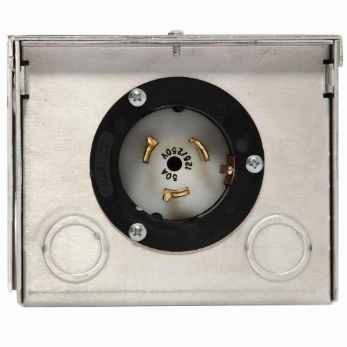Generac Generac 6344 50-Amp 125/250V Raintight Aluminum Power Inlet Box