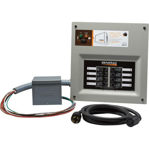 Generac Generac 6853 Home Link 30 Amp Transfer Switch Kit w/ 10 Cord and Power Inlet