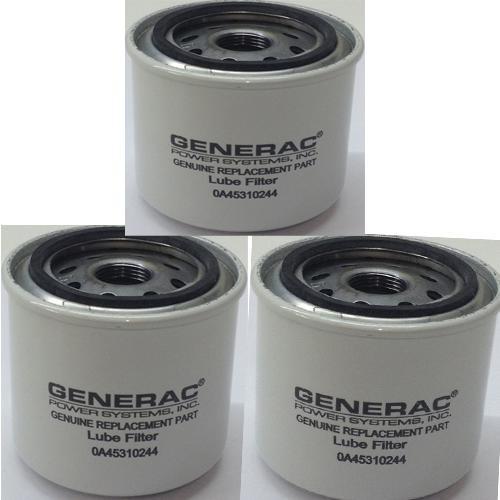Generac Generac 0A45310244 Oil Filter 1.5L/2.4L G2 - Pack of 3