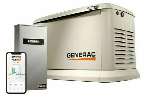 Generac Generac Guardian Model 7210 24kW Air Cooled Standby Generator, Aluminum Enclosure, 200 SE ATS w/ HEMS not CUL