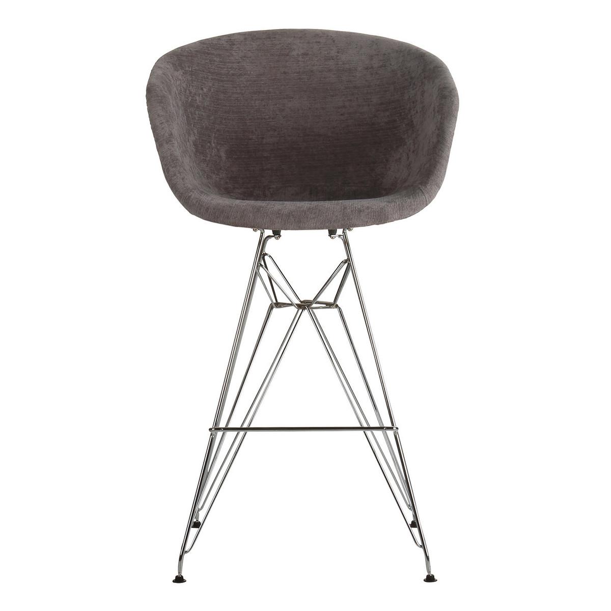 Amazing Danish Modern Dark Grey Counter Stool With Metal Eiffel Legs Lamtechconsult Wood Chair Design Ideas Lamtechconsultcom