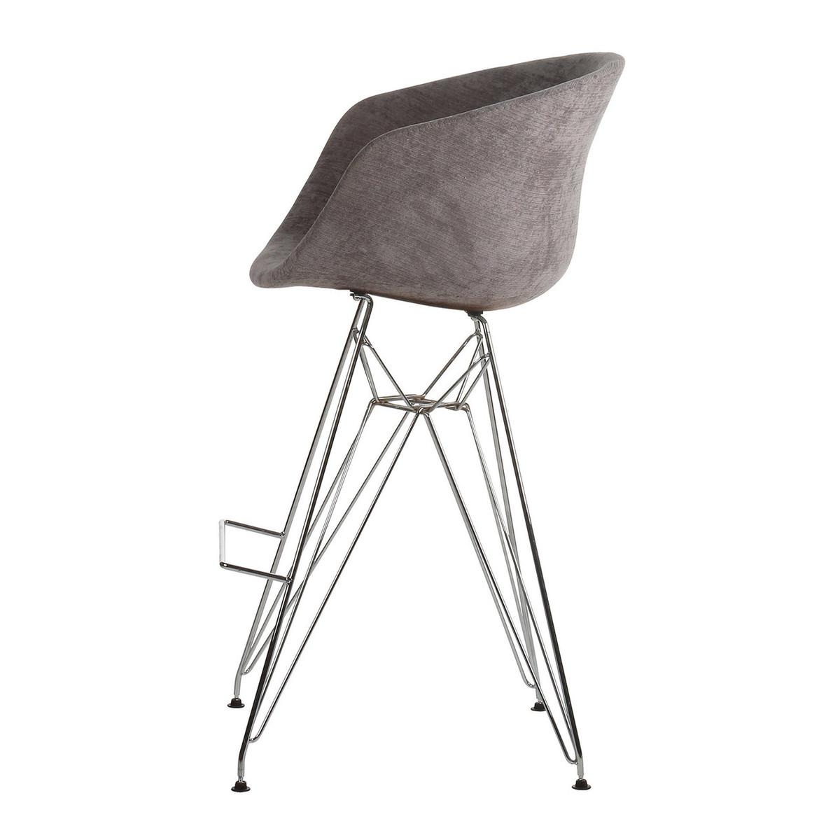 Fabulous Danish Modern Dark Grey Counter Stool With Metal Eiffel Legs Lamtechconsult Wood Chair Design Ideas Lamtechconsultcom