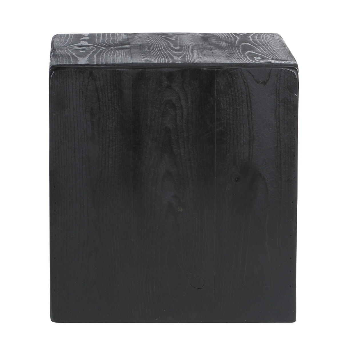 Awe Inspiring Usa Made Rustic Walnut Storage Cube Ottoman Side Table Black Squirreltailoven Fun Painted Chair Ideas Images Squirreltailovenorg