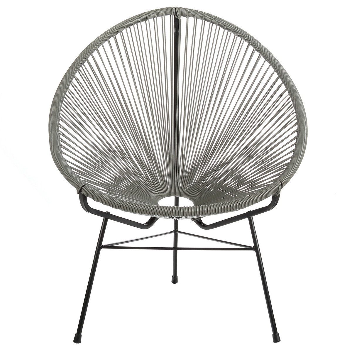 Acapulco Lounge Chair Grey Wire Basket Patio Chair