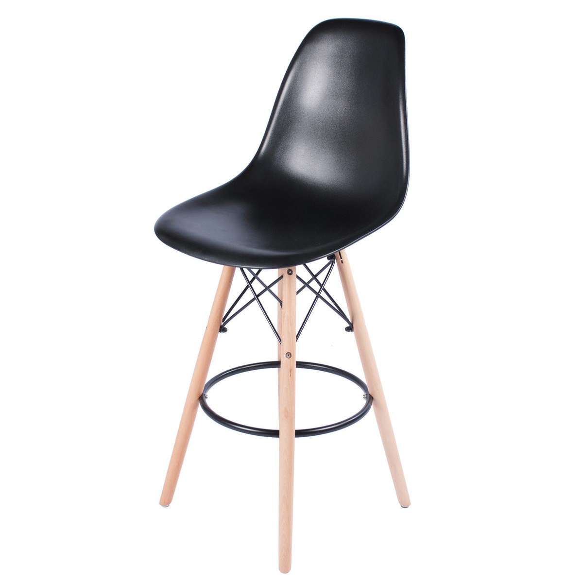 Charles Eames Style Dsw 26 Counter Stool Black
