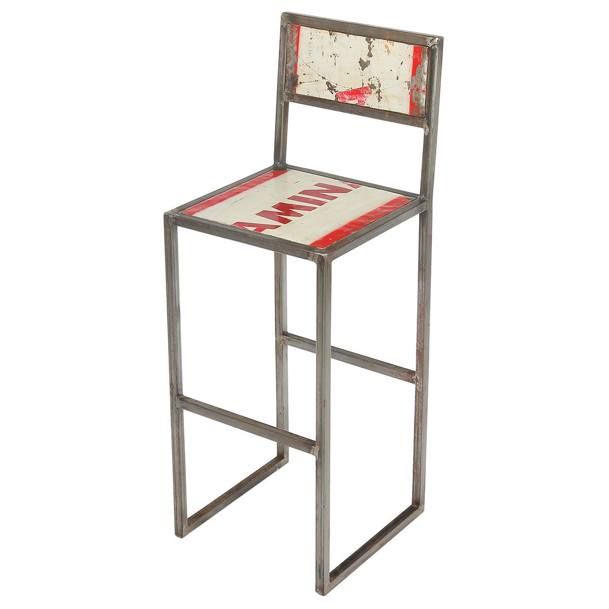 Peachy Refinery Recycled Metal Iron Counter Stool Gamerscity Chair Design For Home Gamerscityorg