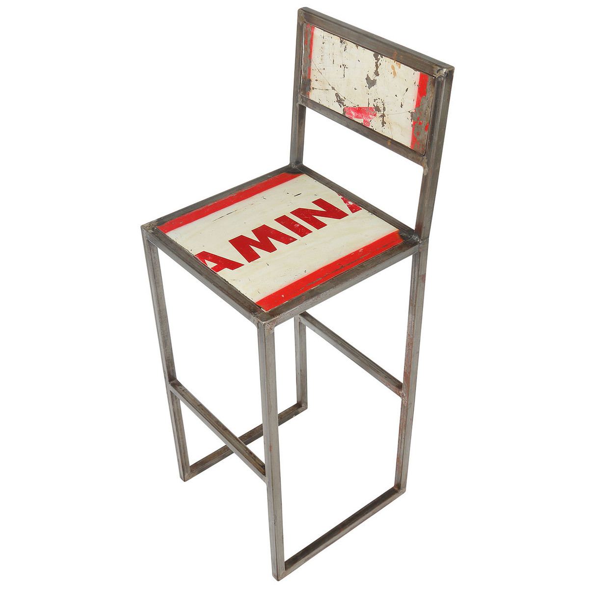 Sensational Refinery Recycled Metal Iron Counter Stool Gamerscity Chair Design For Home Gamerscityorg