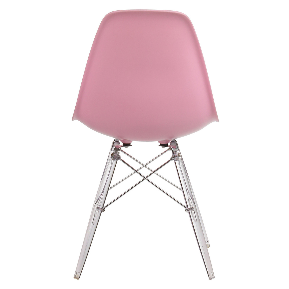Cool Pink Mid Century Modern Side Chair With Clear Legs Dailytribune Chair Design For Home Dailytribuneorg