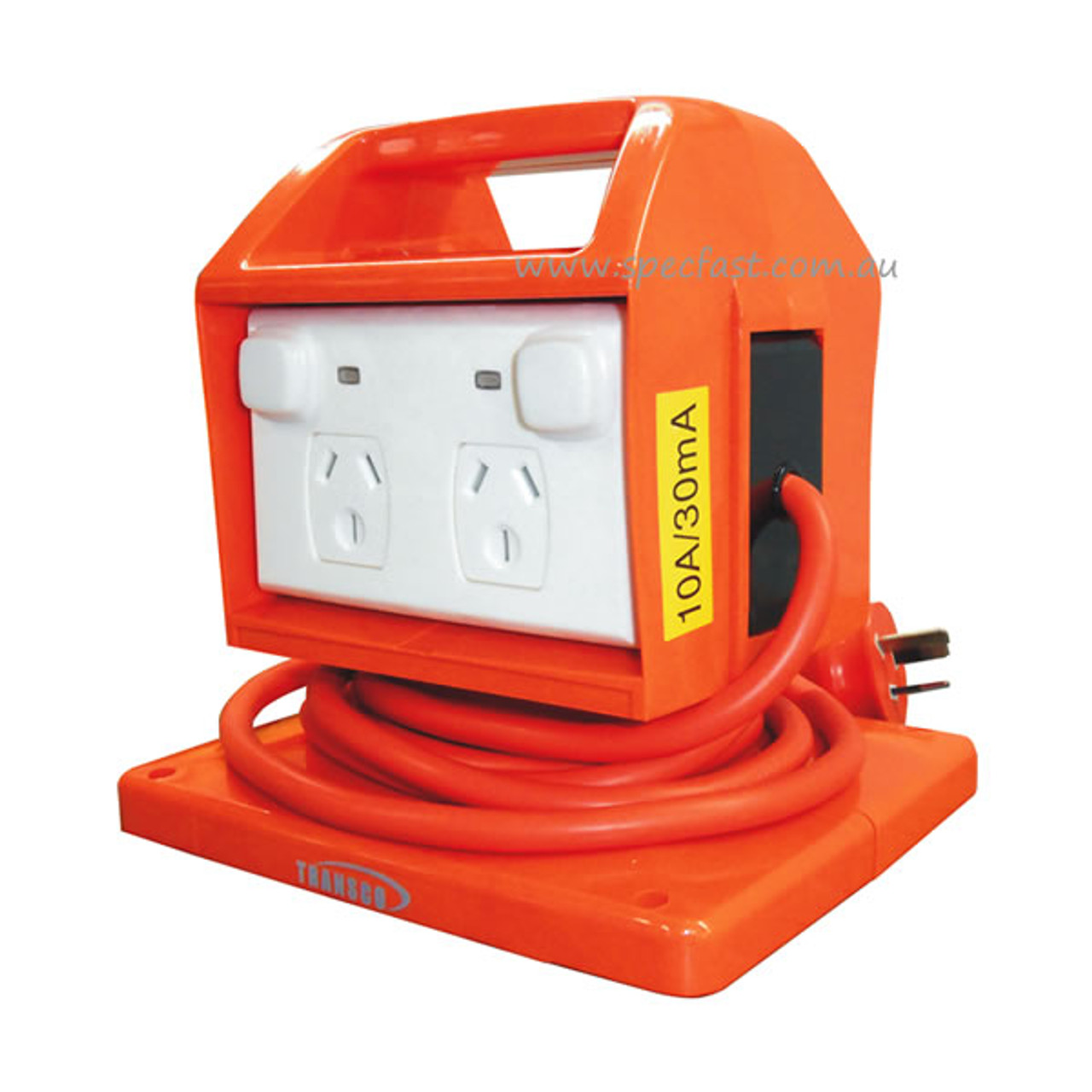 Portable Power Outlet with RCD for Industry and Building Sites