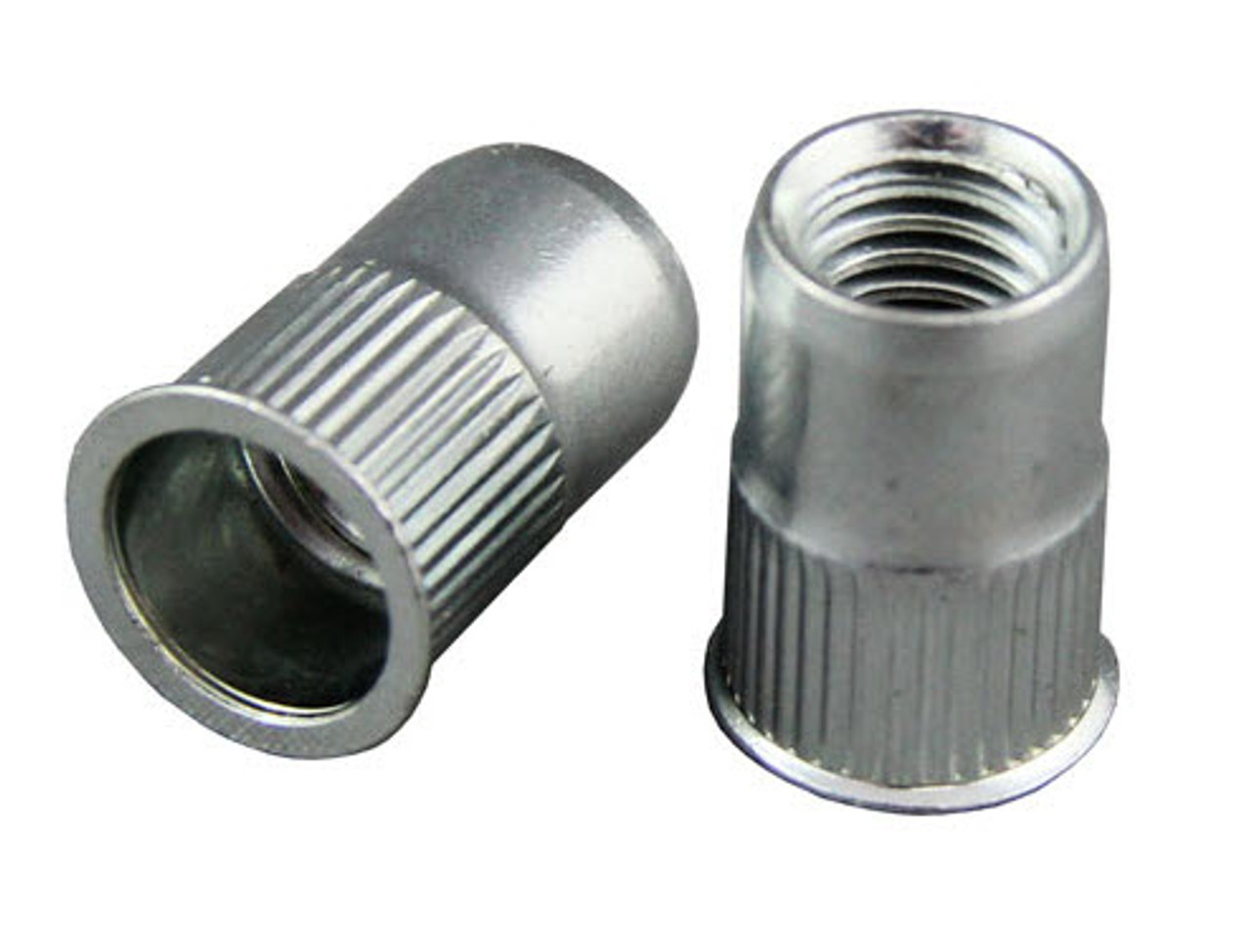 Countersunk Nutserts (Rivet Nut) Low Profile Head - Round Splined Body Pack of 100