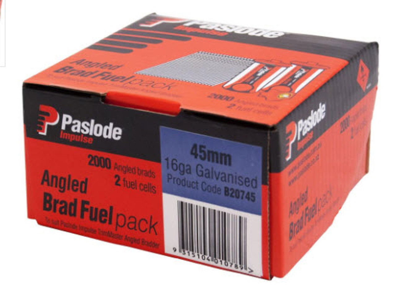 PASLODE TRIMMASTER BRAD / FUEL PACK BOX OF 2000