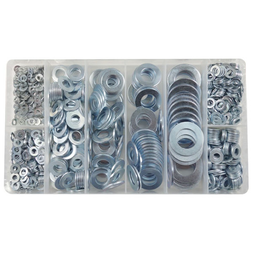 Flat Washer Assortment Kit Metric - Zinc (Cr3) Plated - 915 Pieces - KITIT-1080043