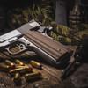 1911 Alien® Hyena Brown G-10 Grip on a stainless gun