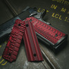 1911 Fallout, Alien®, and VZ Operator II Black Red G-10 Grips