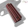 VZ's Alien® Black Red G-10 grips on a black Colt® 1911.