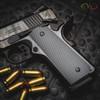 VZ's Tactical Slants Steel Gray G-10 grips on a black Colt 1911