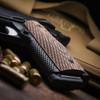 VZ Tactical Slants Palm Swell Hyena Brown G-10 grips on a black Kimber® 1911
