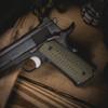 VZ Operator™ Dirty Olive G-10 grips on a black Colt® 1911