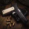 Double Diamond Ivory G-10 grips on a black Kimber® 1911