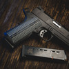 Double Diamond Black Gray G-10 grips on a black Springfield Armory® 1911