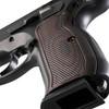 VZ Grips' Tactical Diamond Palm Swell G-10 CZ 75 grips, hero photo