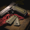 VZ Grips Tactical Diamonds in Dirty Olive on a Para Ordnance P-14