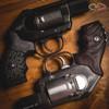 VZ Grips' VZ Stipple Black G10 Grip and a VZ Twister Black Cherry G10 Grip on Kimber K6's