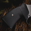 VZ Grips' Tactical Diamond Black G-10 Round-2-Square Conversion grips on a round bottom Smith & Wesson N-Frame revolvers, lifestyle photo